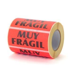 Etiquetas muy frágil