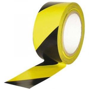 Cinta de señalización amarilla y negra de 200 metros